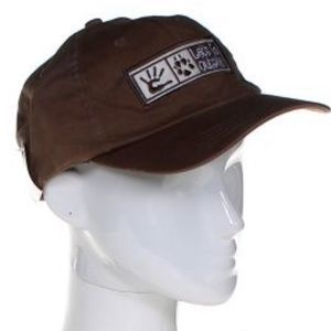Canvas Brown Cotton Baseball Cap Hat Logo slogan